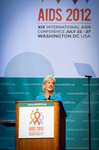 Kathleen Sebelius, Health and Human Services Secretary at AIDS 2012