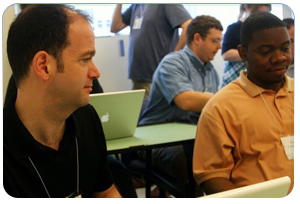 Photo of Miguel Gomez and Israil Ali at Podcamp DC