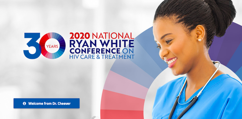 Photo of a woman. 2020 National Ryan White Conference on HIV Care and Treatment. 30 Years. Welcome to Dr. Cheever.