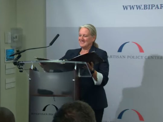 Dr. Tammy Beckham at the Bipartisan Policy Center speaking on Ending the HIV Epidemic