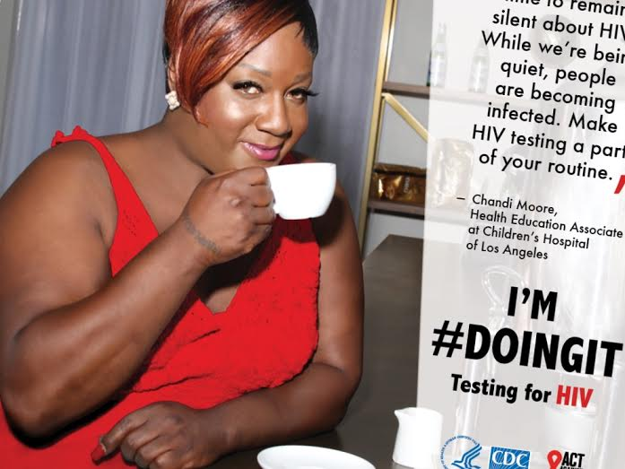 Chandi Moore, CDC's Doing It Campaign