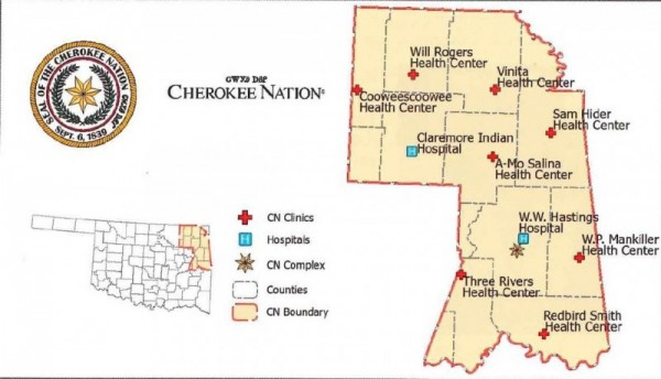 Cherokee Nation Map