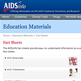 AIDS info fact sheet