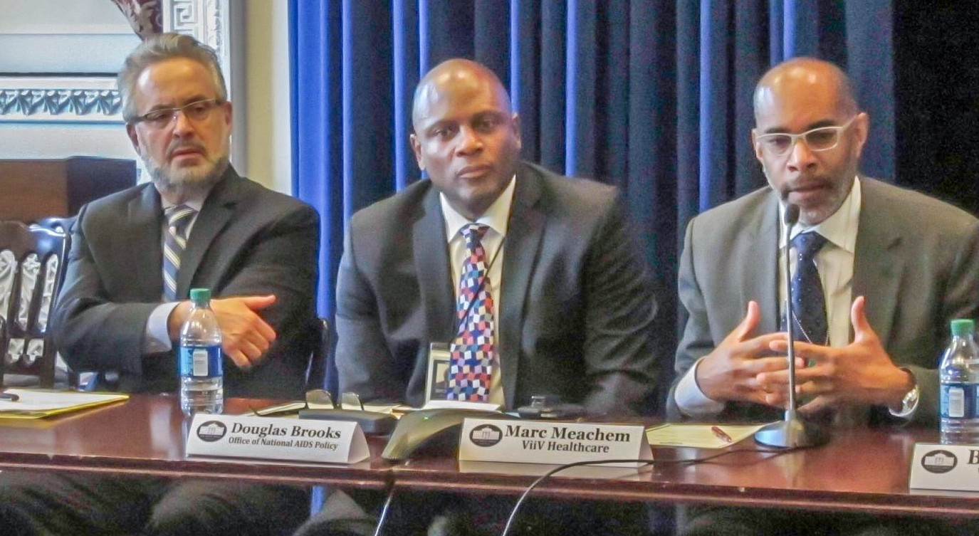 (From L - R) Ron Valdiserri, Douglas Brooks, Marc Meachem. - White House Feb 5 2015