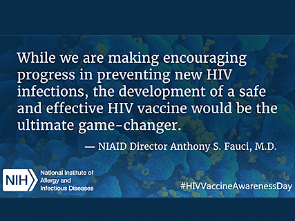 HIV Vaccine Day 2016 - Fauci quote - cropped May2016
