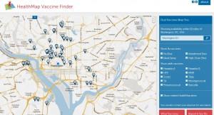HealthMap Vaccine Finder