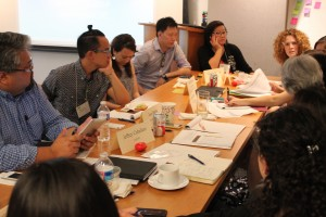 Summit participants developing Hep B United Community Action Plan
