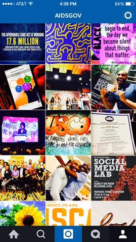 Instagram feed - AIDSgov - for new media blog Oct 6
