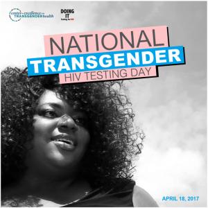 National Transgender HIV Testing Day 2017 Black and White Image
