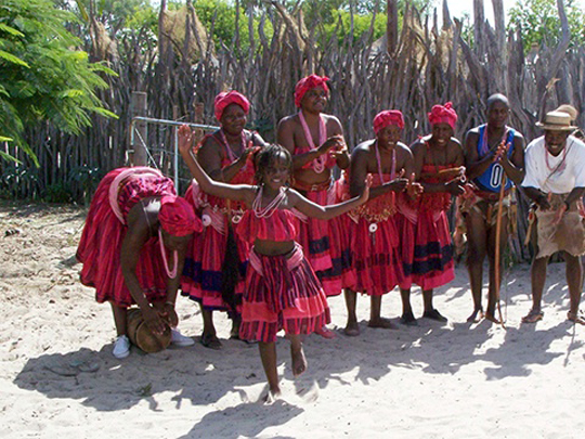 Namibian Girls Dancing