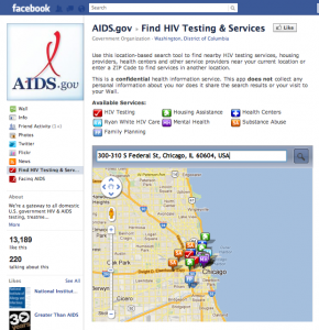 HIV/AIDS Locator on Facebook