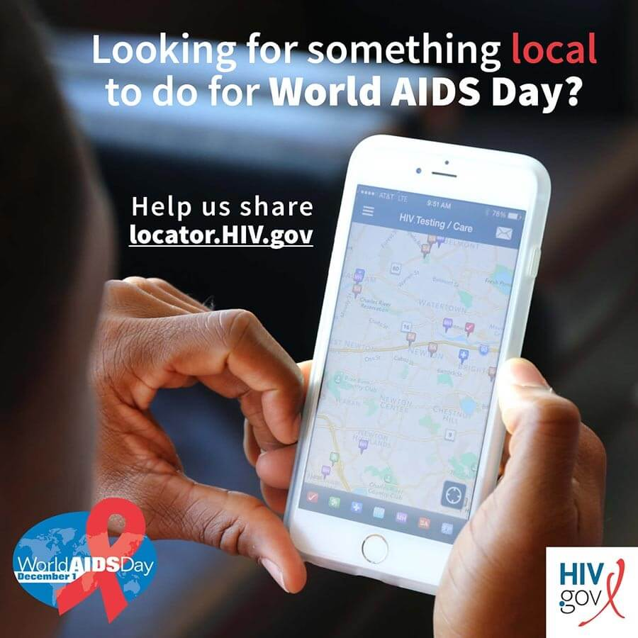 Looking for something local to do for World AIDS Day? Help us share locator.hiv.gov