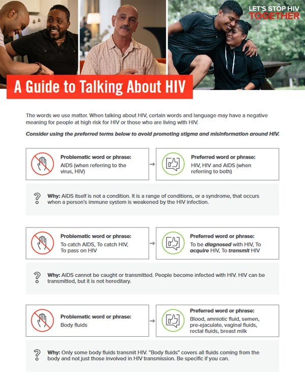 A Guide to Talking About HIV