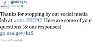 HIV.gov NHPC Tweet