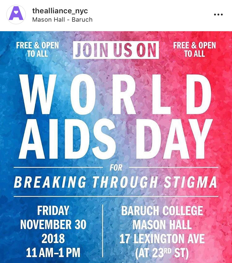 Join us World AIDS Day for Breaking Through Stigma