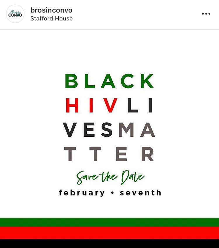 Logo that says Black HIV Lives Matter - Save the Date - February 7th