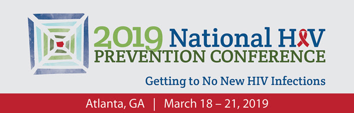 Image promoting the 2019 National HIV Prevention Conference in Atlanta - March 18 - 21, 2019