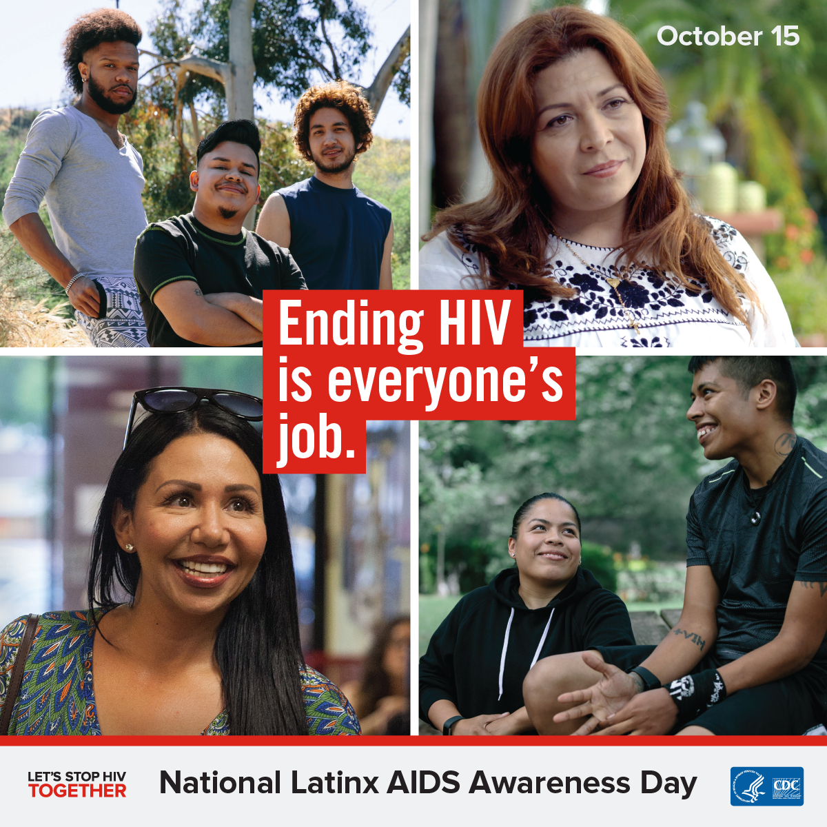 "Graphic stating: ""Ending HIV is everyone's job"""
