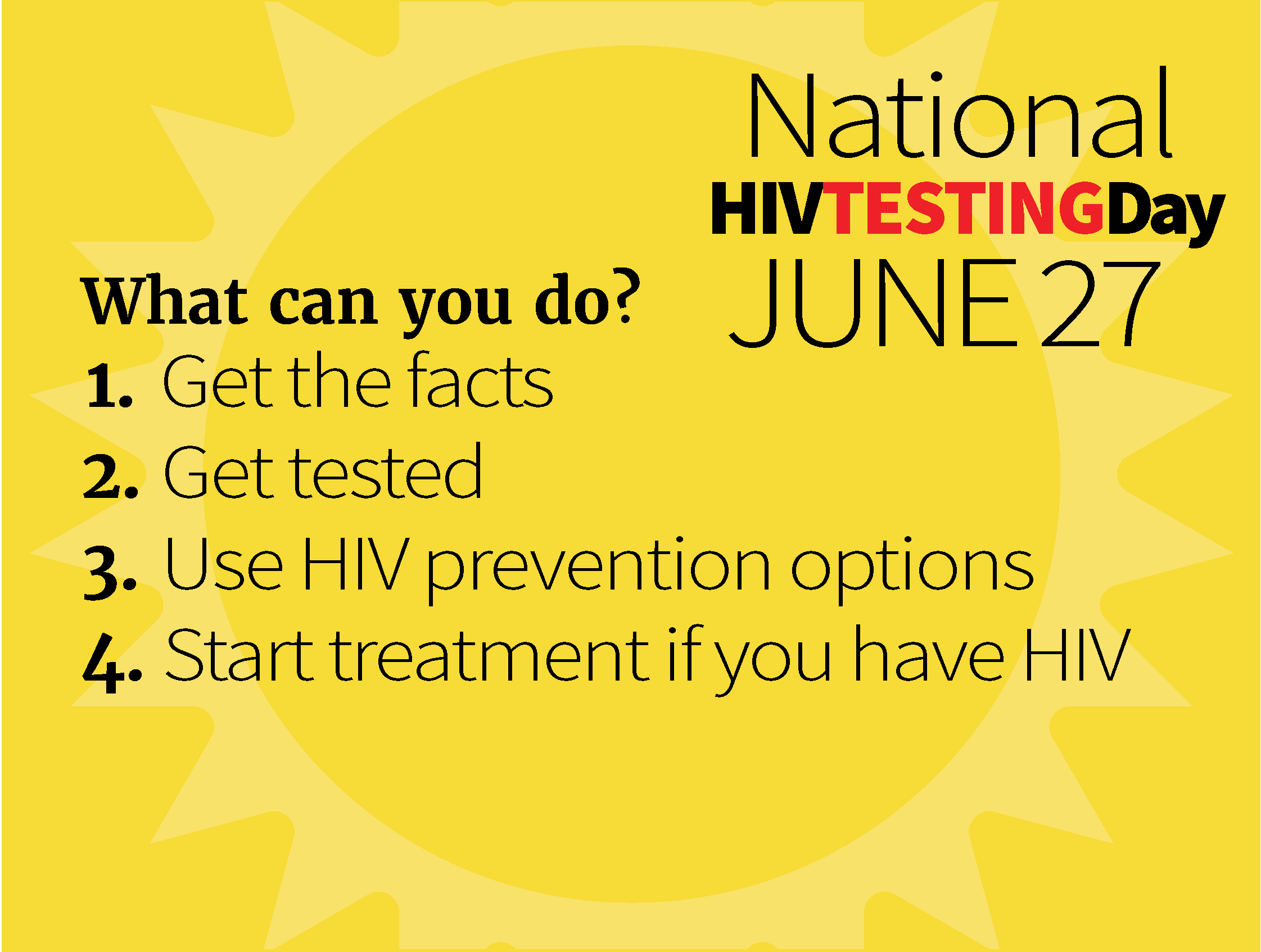 National HIV Testing Day image with the date June 27