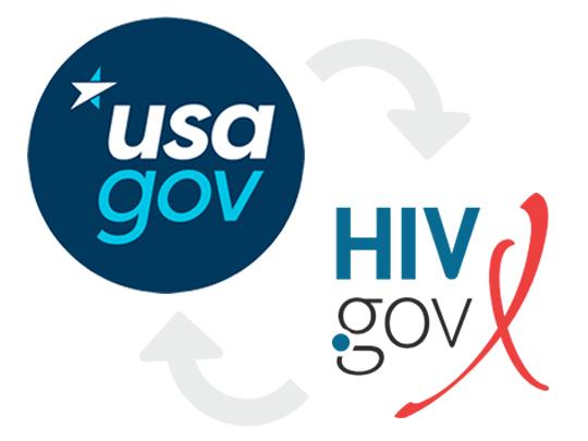 HIV.gov and USA.gov logos