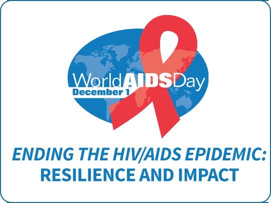 World AIDS Day logo: Resilience