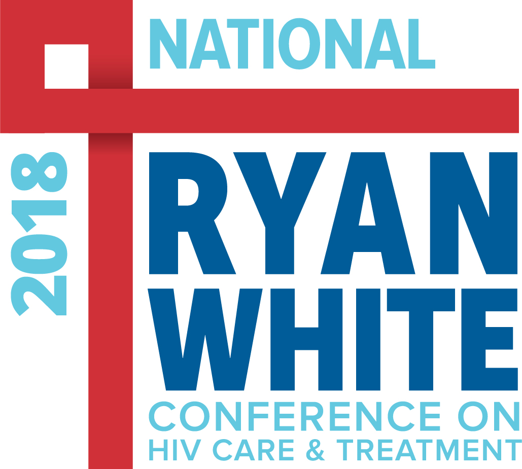 Graphic featuring a red ribbon and Ryan White National Conference on HIV Care and Treatment 2018