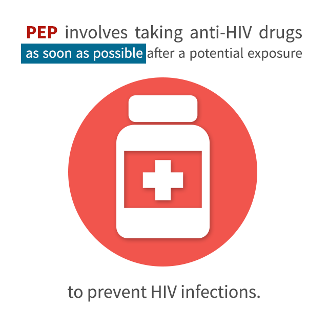 PEP involves taking anti-HIV drugs as soon as possible after a potential exposure to prevent HIV infections.