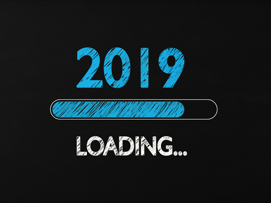 Graphic that says, 2019 Loading....
