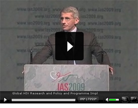 Video of International AIDS Society 2009 Conference Session