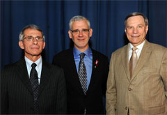 Dr. Anthony Fauci, Dr. Julio Montaner and Dr. Jack Whitescarver