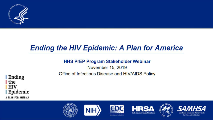 HHS PrEP Program Stakeholder Webinar