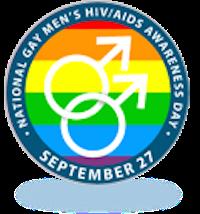 Logo for National Gay Men's HIV/AIDS Awareness Day - September 27