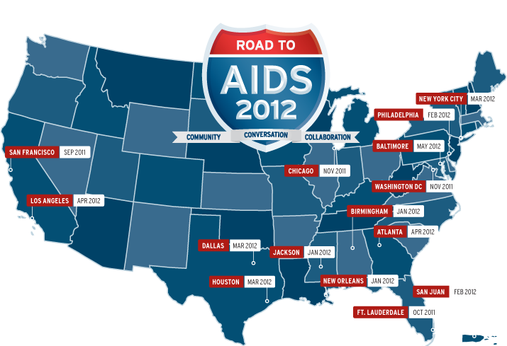 Road to AIDS 2012 Map