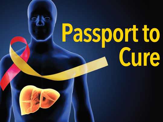 Graphic of a body. Passport to Cure.