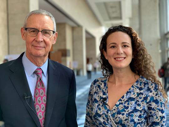 Dr. Carl Dieffenbach and Anne Rancourt at IAS 2019.