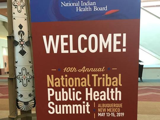 Photo of Welcome sign at the 10th Annual National Tribal Public Health Summit May 13-15 in Albuquerque, New Mexico.