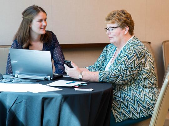 A technical assistance session at a previous conference.
