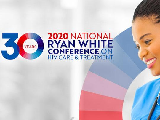 Photo of a woman. Ryan White National conference on HIV and AIDS. 30 Years.
