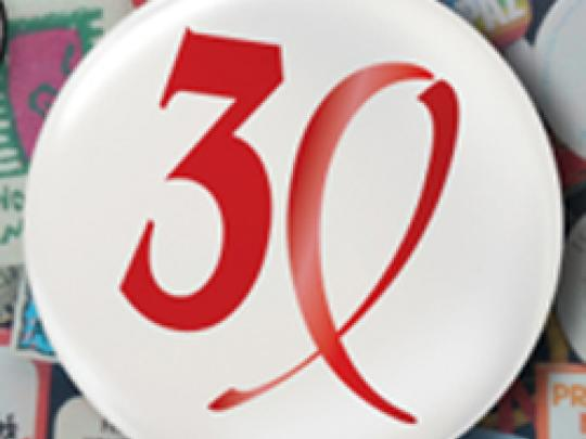 30 Years of AIDS Button