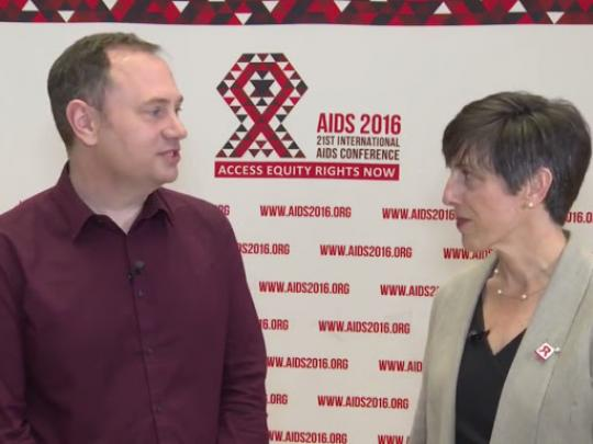 Interview with Dr. Amy Lansky at AIDS 2016