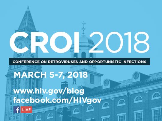 Image featuring CROI 2018 and the dates of the conference: March 5-7 2018