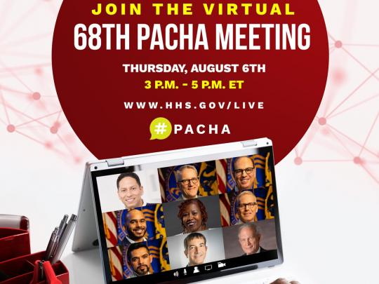 Join PACHA's Virtual Meeting August 6