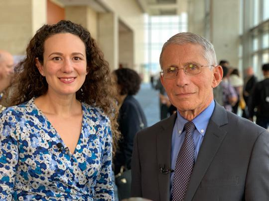 Dr. Anthony Fauci, Director, NIAID, NIH and Anne Rancourt
