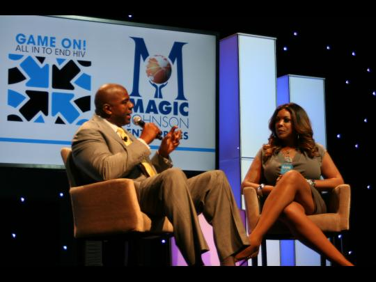 Magic Johnson and Wendy Williams