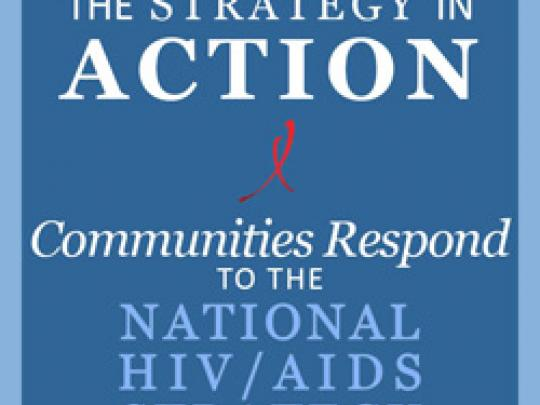 The Strategy in Action. Communities respond to the National HIV/AIDS Strategy