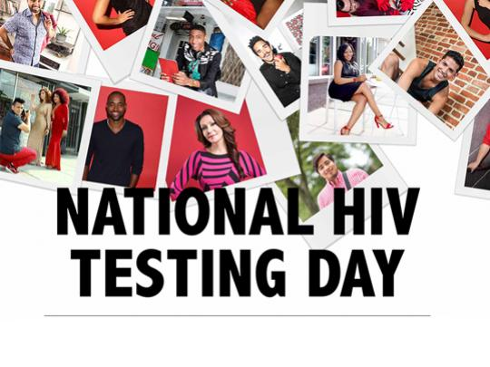 Montage of photos and the words, National HIV Testing Day