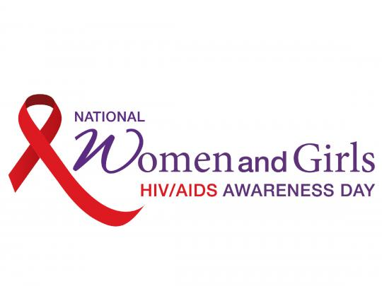 AIDS ribbon. National Women and Girls