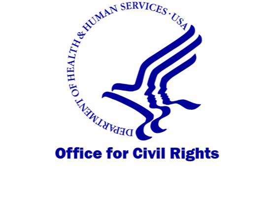 Logo for the Office for Civil Rights, Health and Human Services