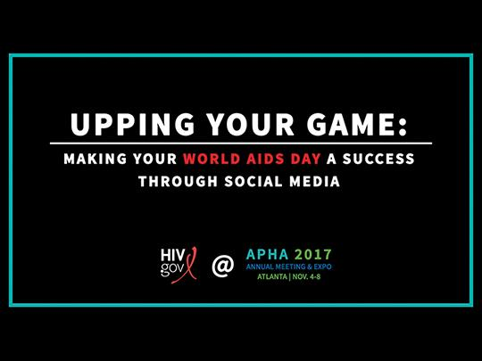 Title Slide for Upping Your Game Facebook Live on World AIDS Day