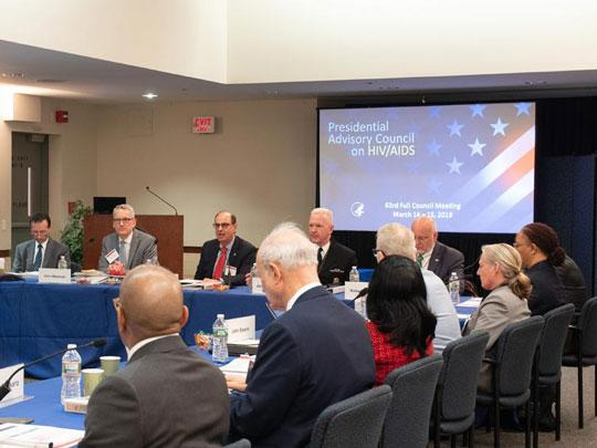 Secretary Azar and Assistant Secretary Adm. Giroir speak at the PACHA meeting in March 2019